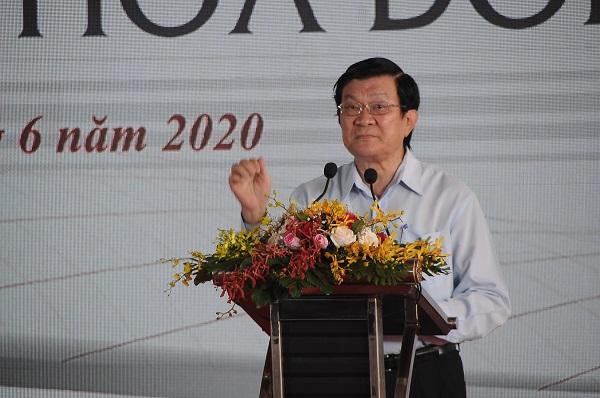 Nguyên Chủ tịch nước Trương Tấn Sang lưu ý chủ đầu tư ngoài xây dựng hạ tầng đồng bộ cần phải quan tâm đến khâu đào tạo nguồn nhân lực chất lượng cao