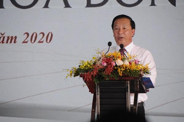 Ông Nguyễn Văn Út -Phó Chủ tịch UBND tỉnh Long An phát biểu tại Lễ Khởi công
